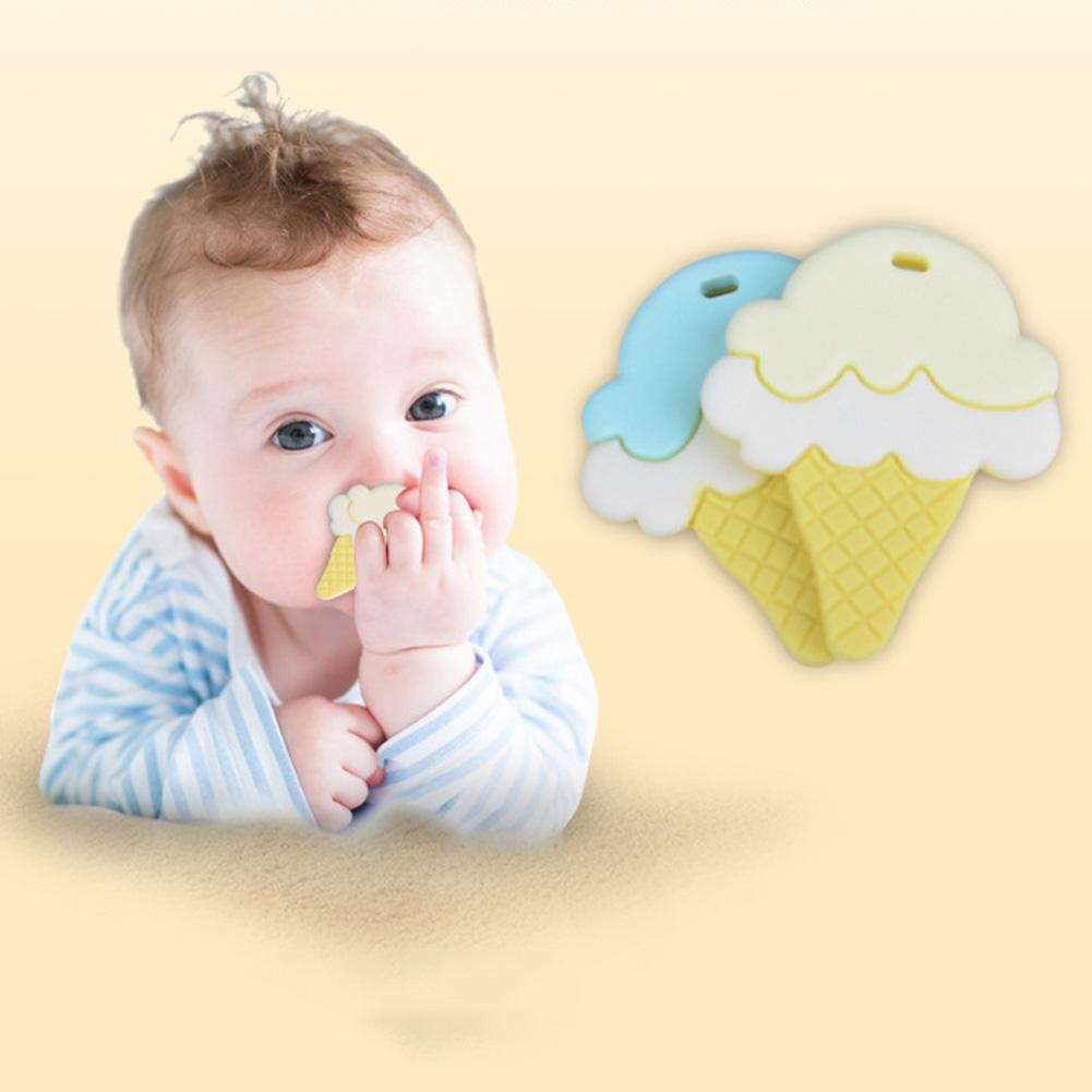84487807903dd Ice Cream shaped Silicone Teether Baby Nursing Teething Necklace  Accessories Baby Bite Toddler Teething Molar Toys for baby-in Baby Teethers  from Mother ...