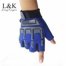 Армейские тактические перчатки без пальцев для детей от 5 до 13 лет, мужские Противоскользящие Военные рукавицы с полупальцами для стрельбы, мужские боевые перчатки