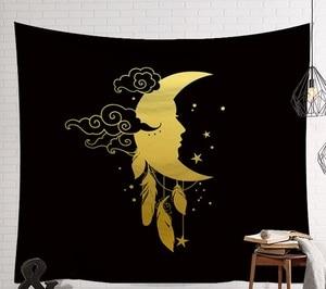 Image 3 - CAMMITEVER Mandala Hippie Moon Sun Dreamcatcher Tapestry Bohemian Beach Towel Polyester Thin Blanket Yoga Shawl Mat Dark Mystery