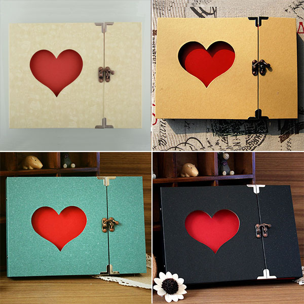 Aliexpress Buy 30 Pages Hollowed Heart Photo Album Memory