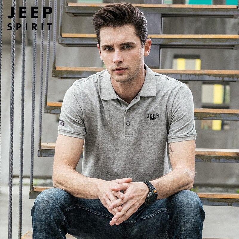 Brand JEEP SPIRIT   Polo   Men Summer   Polo   Shirt Men Breathable Casual Loose Cotton   Polos   para hombre Plus Size M-3XL camisas