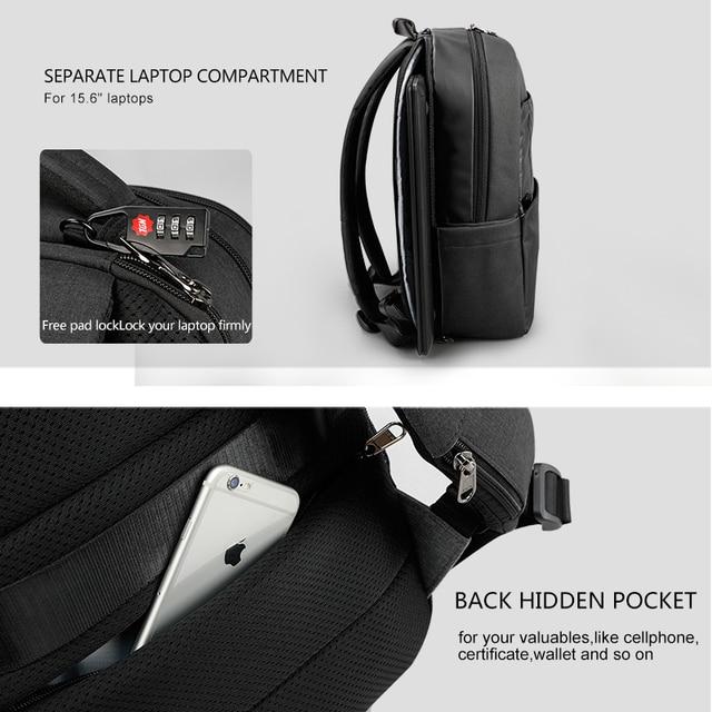 Tigernu Unique technique multifunction schoolbag for teenage USB 15.6 Laptop Anti theft Fashion Business Men backpack 3