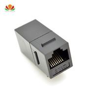 CAT6 shielded pass through module Or plaqué UTP réseau module RJ45 connecteur Câble adaptateur Keystone Jack