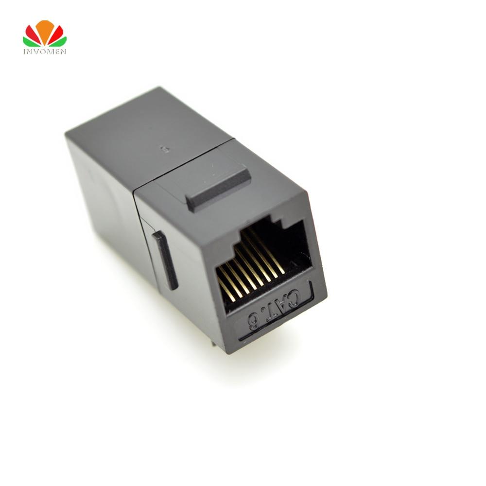 UTP CAT6 Straight Through Network Module RJ45 Connector Information Socket Computer Coupler Cable Adapter Ethernet Keystone Jack