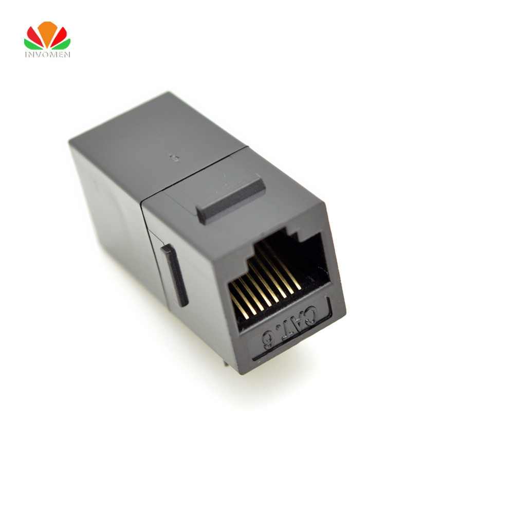 UTP CAT6 Straight Through Network Module RJ45 Connector Information Socket Computer Coupler Cable Adapter Ethernet Keystone Jack