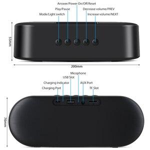 Image 5 - TOPROAD 휴대용 블루투스 5.0 스피커 10W 무선 스테레오베이스 Hifi 스피커 지원 TF 카드 AUX USB 핸즈프리 플래시 LED
