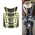 Para honda suzuki yamaha kawasaki ducati ktm aprilia benelli 4 colores 3d calcomanías tanque de combustible de la motocicleta protector del cojín pegatinas cubierta