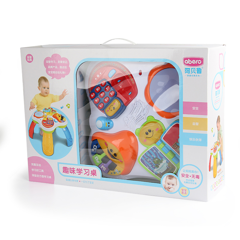 Free Shipping Musical Baby Learning Table Discovering Activity Baby Table Educational Game Toys Mother & Kids