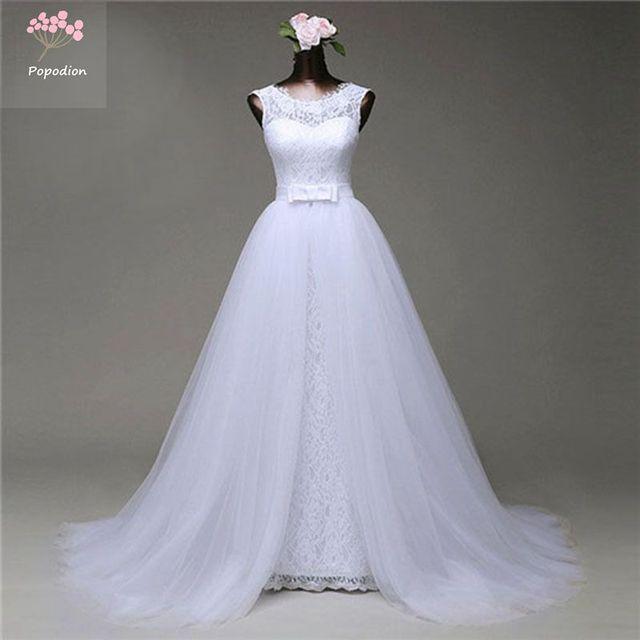 Aliexpress.com   Buy Popodion Wedding Dress Lace Wedding Dresses 2 . 2eb97aaa9ecf
