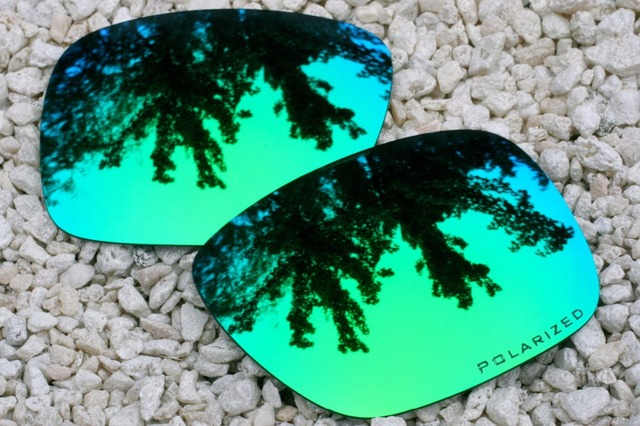 aftermarket oakley lenses eglv  Emerald Blue Green Replacement Polarized Lenses for Oakley Holbrook  Sunglasses