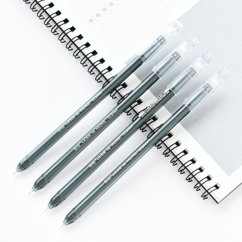 12pcs/lot Creative 0.2mm Super Fine Needle Black Ink Gel Pens Student Study Stationerys Office Supplies
