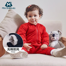 Baby Rompers Long Sleeve Jumpsuit Bebe Infant Clothing Thick Warm Autumn Winter Newborn Clothes Onesie Girls Outfits Coveralls(China)