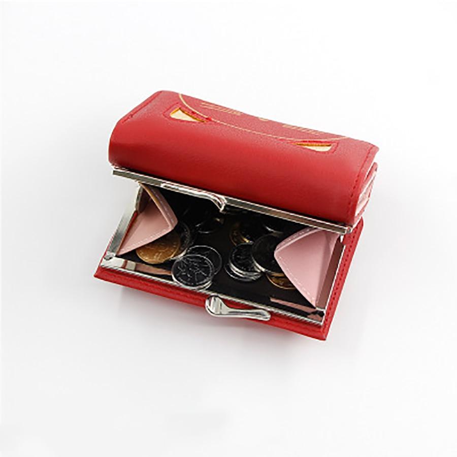Women Cute Cat Wallet Change Folder Short Multi function Coin Purse Card Sets Pu Leather Women Coin Wallet Casual Money Bags New - 3