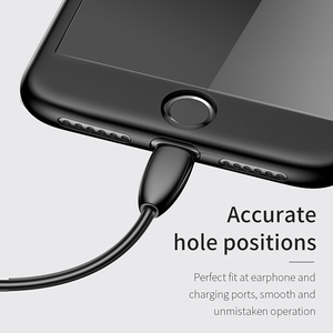 Image 5 - Baseus Fully Protection Case For iPhone 7 plus 8 plus Hard Ultra Slim phone Case Back Cover 9H protective glass for iPhone 7
