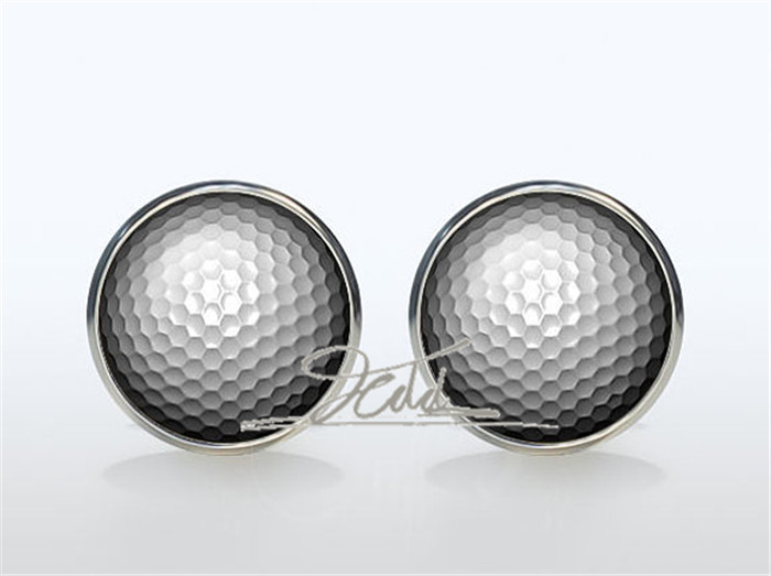 <font><b>Golf</b></font> <font><b>Cufflinks</b></font> Silver plated <font><b>Golf</b></font> ball Cuff links men and women sleeve button sport fans Accessories Silver gemelos image