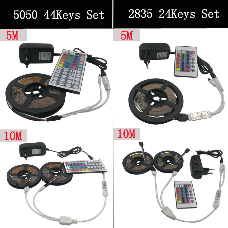 RGB LED traka SMD 2835 LED svjetla DC 12V 5050 Strip 5M 10M - LED Rasvjeta - Foto 2