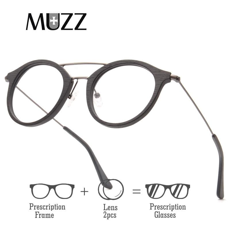 High Quality Men Myopia lens Wooden Eyewear Acetate myopia glasses frame men retro frame female frame