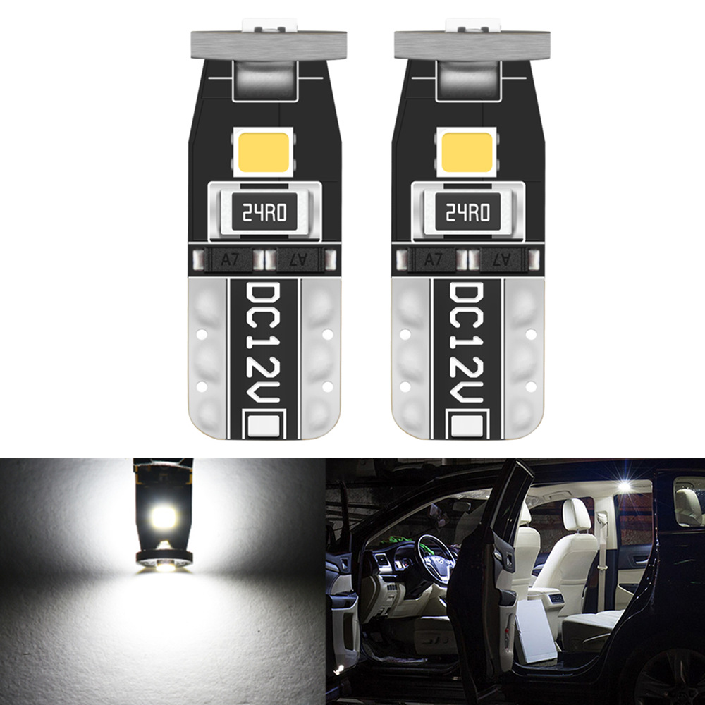 2pcs T10 LED W5W Led Bulbs Car Interior Light Lamp for Ford Fiesta mondeo mk4 ford focus 2 focus mk1ford S-Max Kuga <font><b>Mustang</b></font> image
