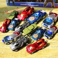 14pcs/set Plastic Cars Toys Cartoon Models Pull Back Car Model Personality Racing Car Toy Die Cast Toy Car