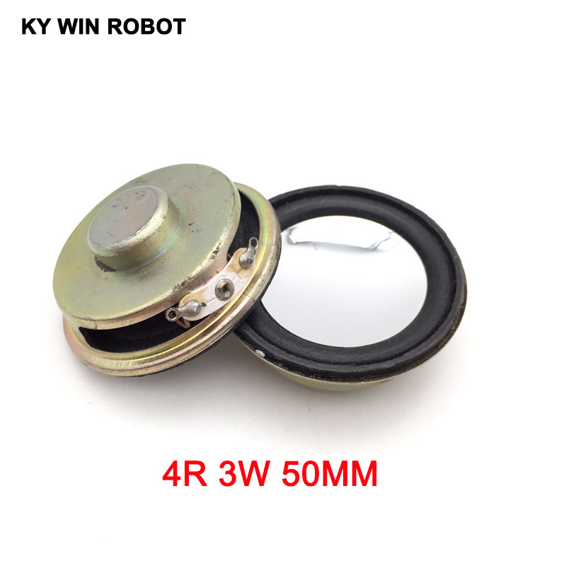 2PCS/Lot High Quality Speaker Horn 3W 4R Diameter 5CM  50mm Mini Amplifier Rubber Gasket Loudspeaker Trumpet Thickness 20MM