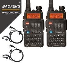 Оригинальный 2 шт. Baofeng UV 5RT Walkie Talke для охоты UV 5RT приемопередатчик высокой мощности усовершенствованная Любительская Двухдиапазонная радиостанция