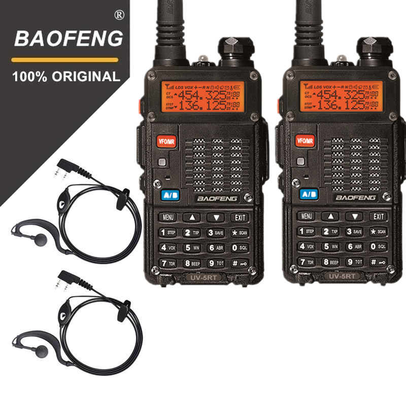 D'origine 2 pcs Baofeng UV-5RT Talkie Talke Pour La Chasse UV 5RT Haute Puissance Émetteur-Récepteur Avancée Amateur Dual Band Radio Station