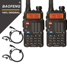 Original 2PCS Baofeng UV-5RT Walkie Talke For Hunting UV 5RT High Power Transceiver Advanced Amateur Dual Band Radio Station