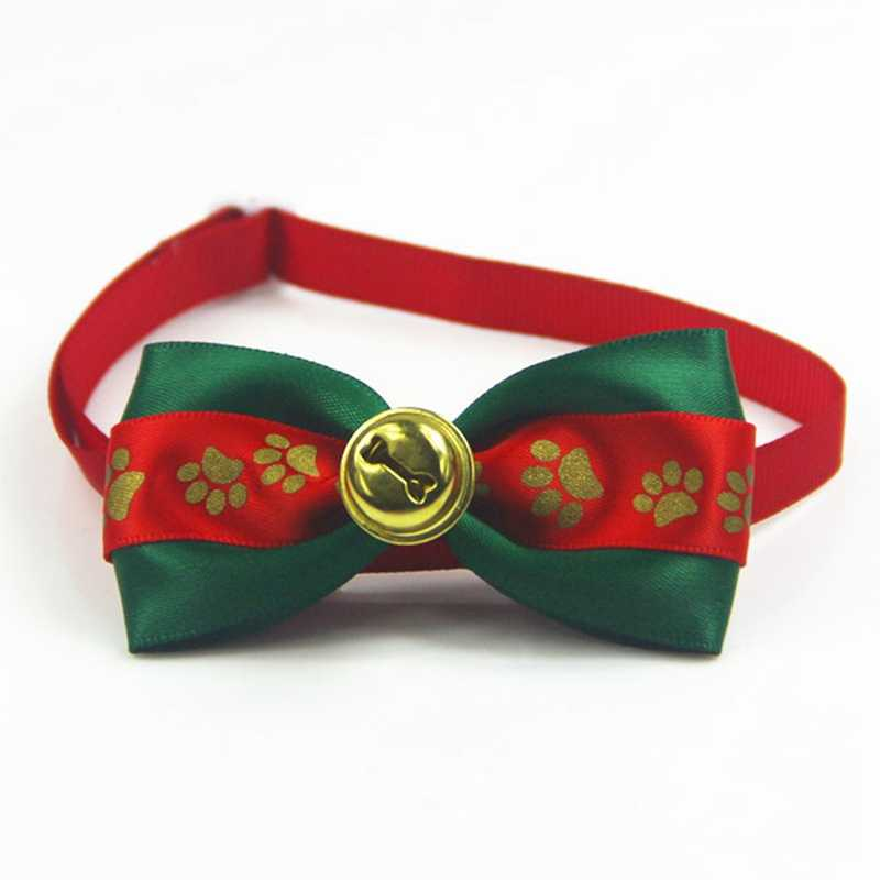 Collar Christmas Pet Cat Dog Neck Puppy Grooming Xmas Party Necessary Bow Tie Christmas Ornament Festival Supplies