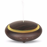 200ml Air Humidifier Essential Oil Diffuser Wood Grain Aromatherapy Diffusers Aroma Mist Maker 24v Led Light