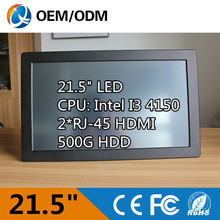 "21.5"" i3 4150 3.5GHz industrial panel pc definition desktop computer touch screen Resolution 1920X1080 all in one pc(China (Mainland))"
