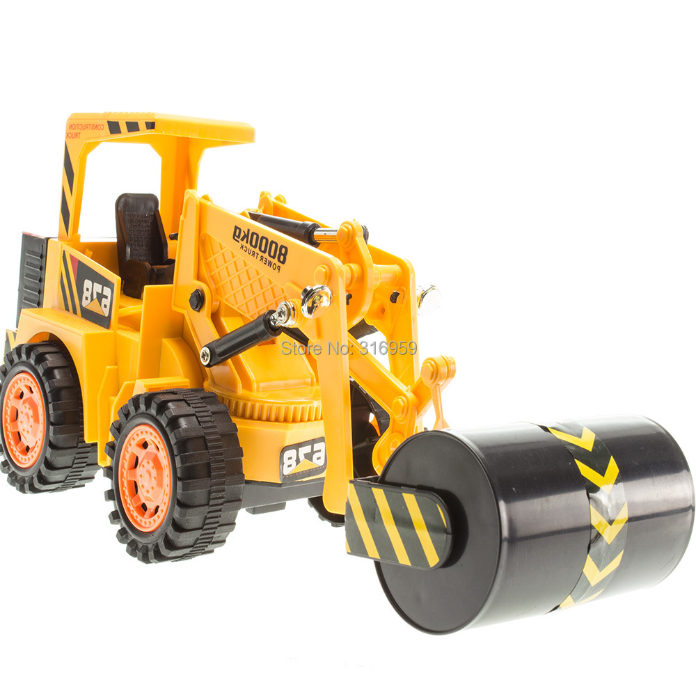 RC Roller Truck Radio Control Road Roller 2 Wheel Steamroller Truck Engineering Truck Model Electronic Vehicle