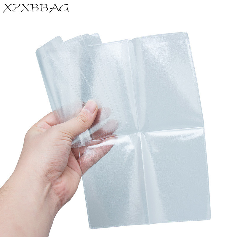 купить XZXBBAG Transparent Russian Auto Driver License Bag PVC Car Driving Sheath Protective Film Case Credit Card Holder Covers по цене 114.92 рублей