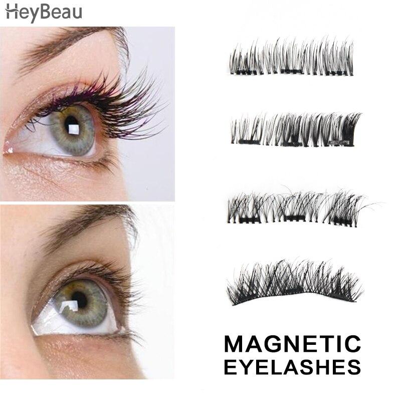 3D false eyelashes with 3 magnets Magnetic eyelashes cilios mink wholesale Eyelashes 1 pair Japanese Eye Lash Extension tools