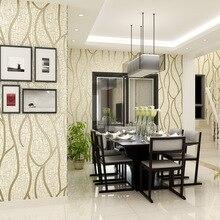 Modern Bedroom wallpaper Suede Non-woven 3D acoustic noise ice cracks suede background Luxury flannelette wallsticker