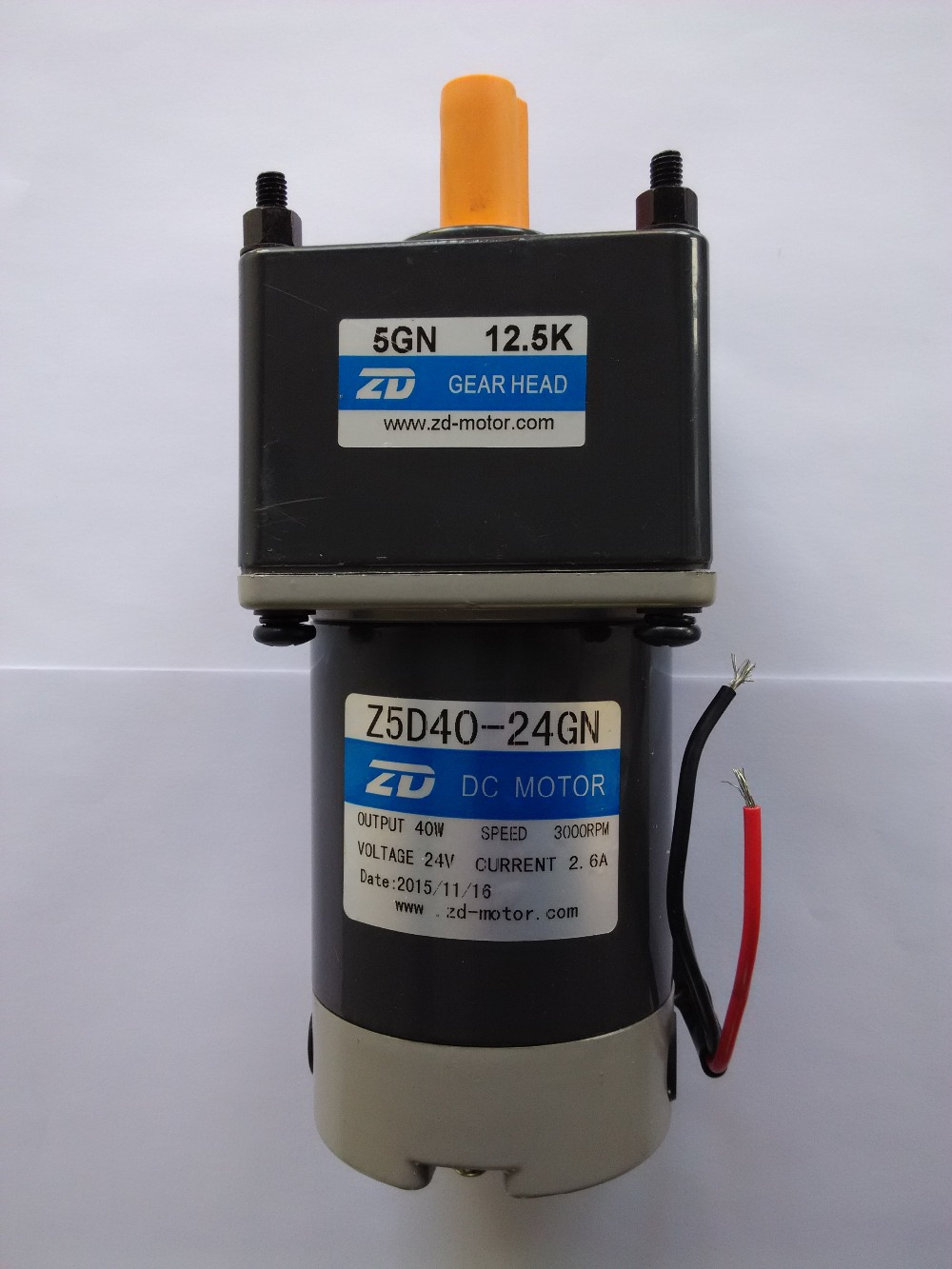 motor-reducer Z5D40-12GN,the torque is 2.48 N.m will be at 25: 1 and 112 rpm at the output. Output shaft diameter in 12 mm mick johnson motivation is at