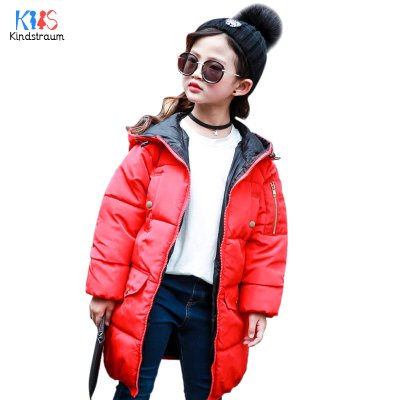 Kindstraum 2017 Winter Children Thick Down Clothes Boys & Girls Solid Hooded Parkas Super Warm Coats for Kids,RC1577 winter coats girls down jacket for boys parkas long glasses models kids hooded jackets thick warm ski children outwear clothes