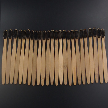 100 Pieces OEM Service Bamboo Toothbrushes Minimum Quantity Toothbrush and logo on handles