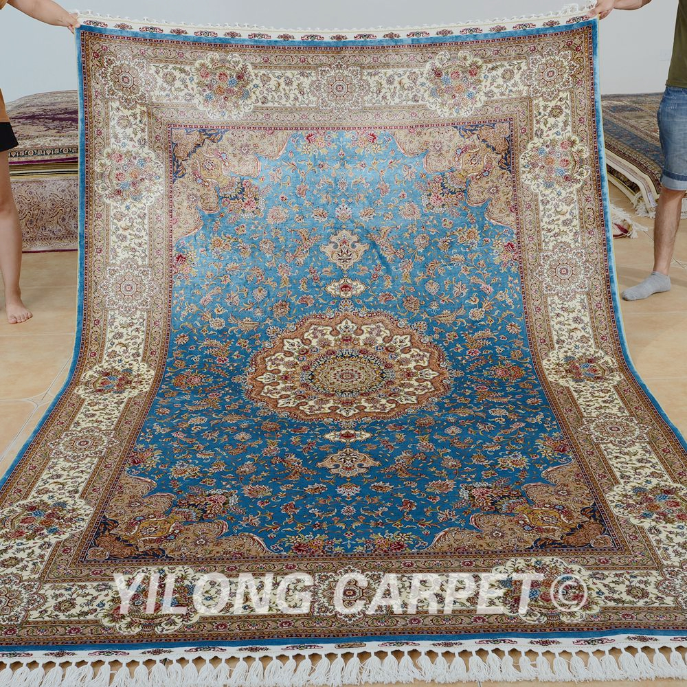 Aliexpress Com Buy Yilong 6 X9 Kashmir Qum Carpet