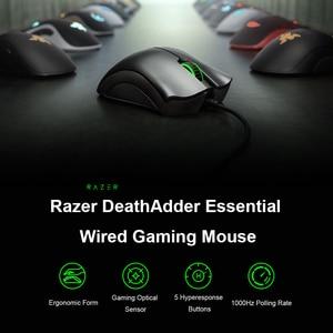 Image 4 - Originale Razer DeathAdder Essenziale Wired Gaming Mouse Mouse 6400DPI Sensore Ottico 5 Professionale Gaming Mouse per il PC Del Computer