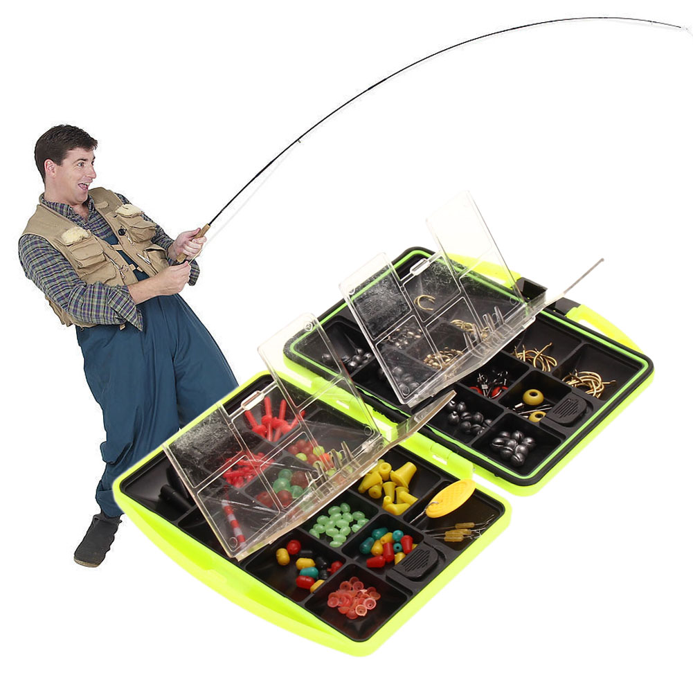 New sports fishing tackle boxes jig swivels clamp hooks for Fishing tackle retailer