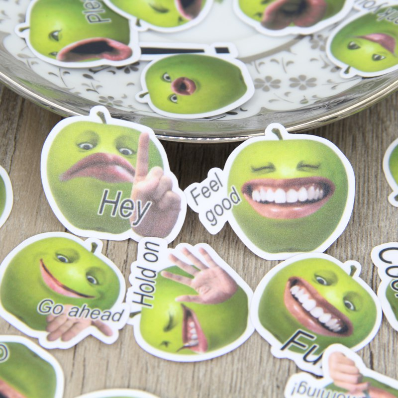 Aliexpress.com : Buy 40pcs Funny Green Apple Face Emotion