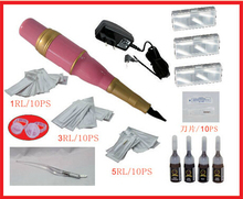 NEW Permanent Makeup Kits EyebrowTattoo Eyebrow Make up Machine Kit With  Ink Ring Tips Makeup Pen Tattoo Supplies