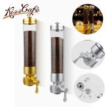 Aluminium alloy & acrylic 1800g coffee bean dispenser coffee bean container stand coffee bean canister suspension sealed jar