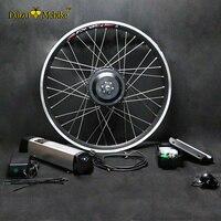 En iyi Fiyat $219 Basit 36 V Su Isıtıcısı Pil Ile Elektrikli Bisiklet Kiti E Bisiklet kiti 250 W 350 W 500 W motor Opsiyonel max 44 km/saat Başparmak