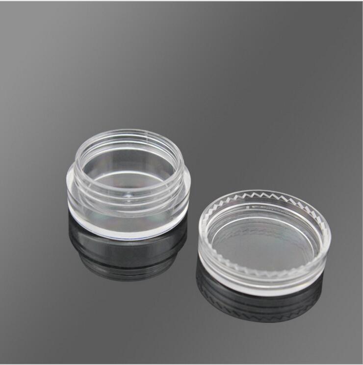 100PCS 3G Transparent Cream Jar, 3CC Mini Empty Clera Sample Container,Mask/Eye Cream Sub-bottling,Empty Cosmetic Container 5ml 50pcs 5g colorfull cream jar empty plastic cosmetic container clear jar small sample makeup sub bottling nail powder case