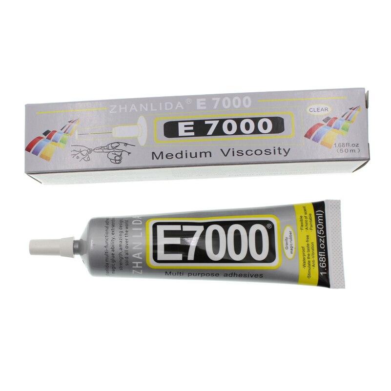 50ML Super E7000 Liquid Glue E-7000 Epoxy Resin Adhesive School Bts Rubber Scrapbooking Accessory Tool Transparent Bond Phone Uv
