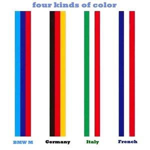 Image 3 - Автомобильная наклейка из ПВХ, 1 рулон, наклейка из ПВХ для всего кузова, декор огнем, виниловые наклейки, Франция, Германия, итальянский флаг для BMW, M Color