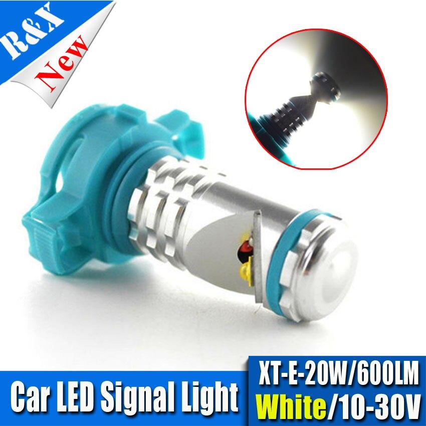 2 x Super White PSX24W 12276 XTE 20W 10V-30V LED DRL Car Fog Light Lamp Bulb For Subaru Impreza VW Volkswagen Routan Ram Dakota