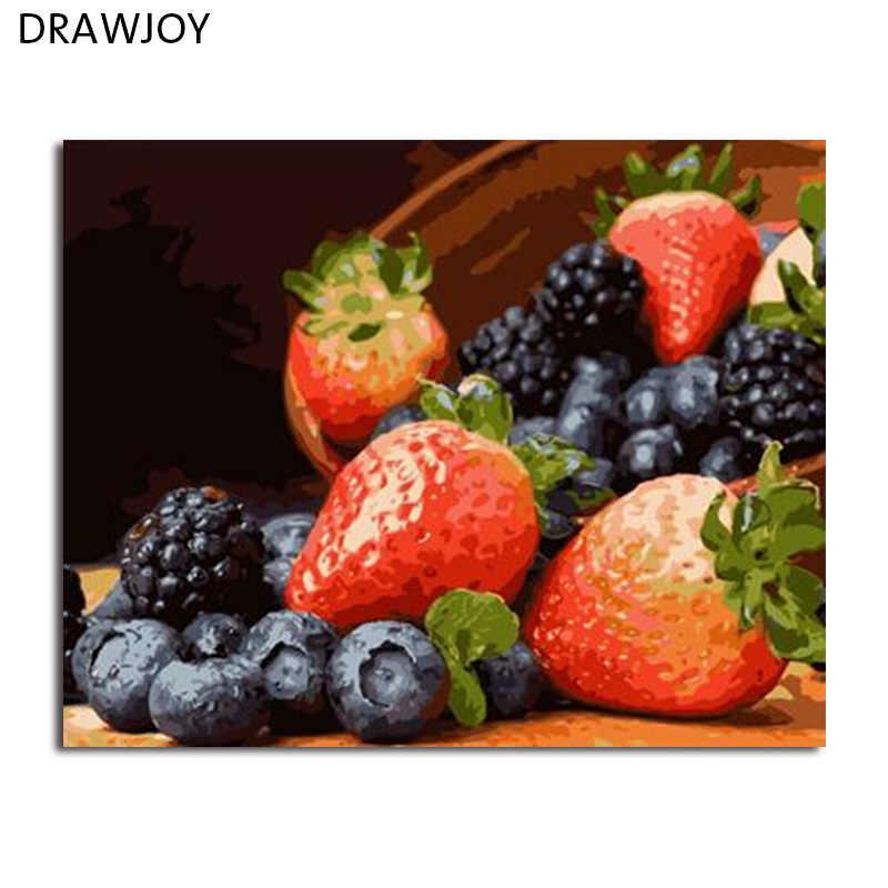 DRAWJOY Framed Picture DIY Painting By Numbers Canvas Oil Painting Home Decoration For Living Room Of Still Life