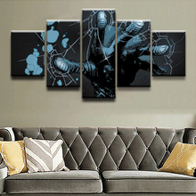 5 Pieces Canvas Printed Comics Hellboy Palms Poster Wall Art Painting Modern Decoration Childrens room Picture Artwork